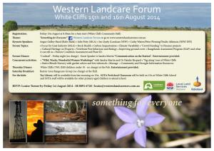 Western Landcare Forum