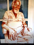 """Portrait of """"Uncle Harold Hunt"""" by David Newman-White"""