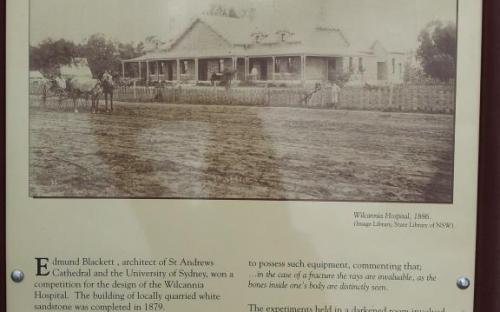 Reconciliation Park, Wilcannia Hospital plaque