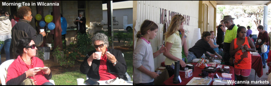Morning Tea in Wilcannia + Wilcannia Market Day